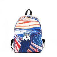 Рюкзак разноцветный с котом ( городской рюкзак )