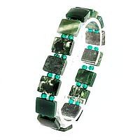 Моховая яшма, браслет, 384БРМ
