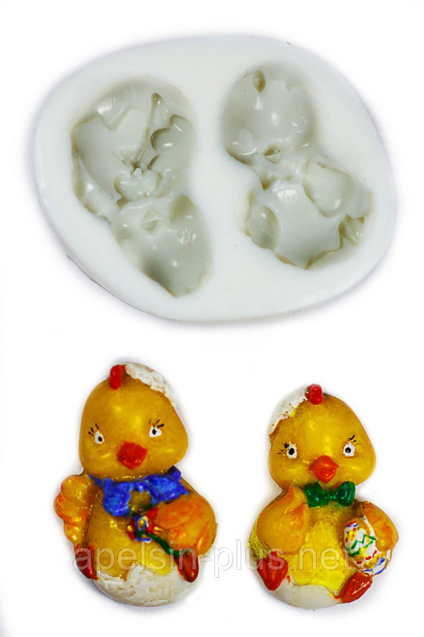 """Молд силиконовый """"Пасхальные цыплята"""" 6,2 см 5 см"""