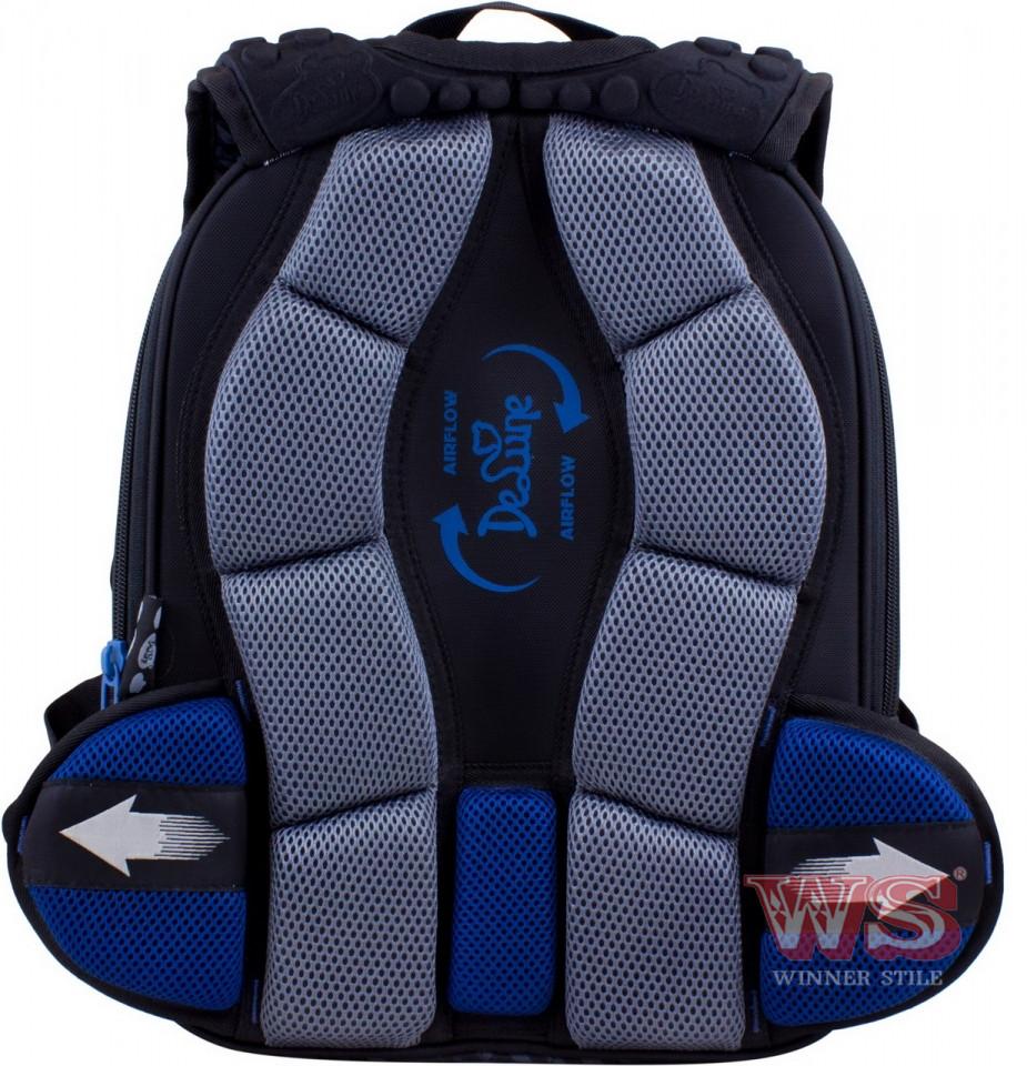 c395f82eda9f ... Школьный ранец детский рюкзак для мальчика DeLune 3 в 1 с часами  пеналом и мешком для ...