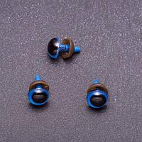 Глазки для игрушек, синие, 8 мм, 3 пары