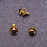 Глазки для игрушек, желтые, 8 мм, 3 пары