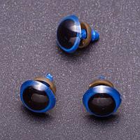 Глазки для игрушек, синие, 16 мм, 3 пары