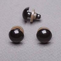 Глазки для игрушек, черные, 12 мм, 3 пары