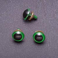 Глазки для игрушек, зеленые, 14 мм, 3 пары