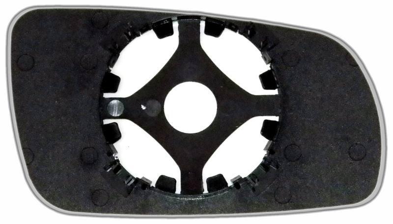 Зеркальный элемент (стекло зеркала) Ауди А8 D2 левый асферический голубой