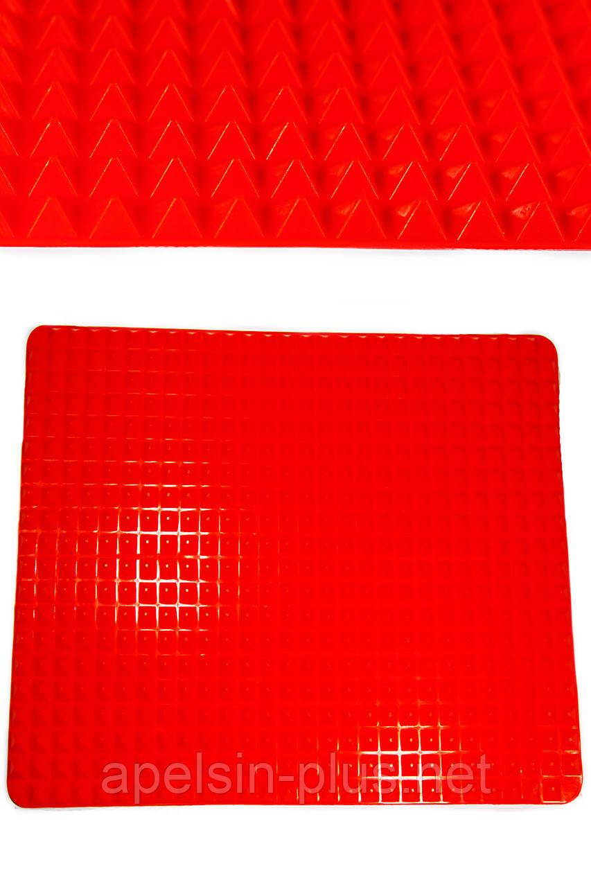 """Силиконовый коврик для запекания мяса """"Пирамидки"""" 40 см на 29 см"""