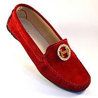 "Мокасини женскмчие замшеві Ornella M4 O Red by Rosso Avangard колір червоний ""Сольферіно"""