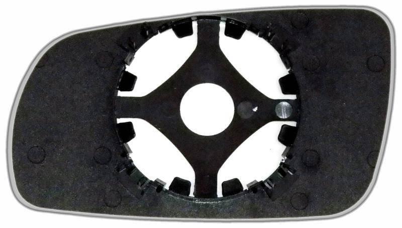 Зеркальный элемент (стекло зеркала) Ауди А8 D2 правый сферический голубой большой, фото 2