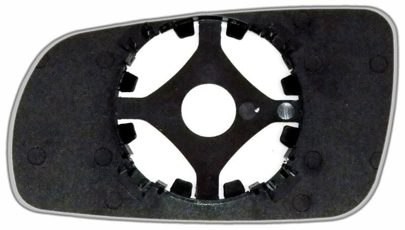 Зеркальный элемент (стекло зеркала) Ауди А8 D2 правый сферический голубой большой