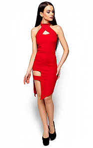 Клубне червоне плаття з вирізом Tekila (S, M, L)