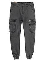 5051 Iteno серый (29-38, 10 ед.) джинсы джогеры мужские демисезонные стрейчевые