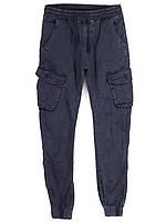8902-15 Iteno синие (29-38, 10 ед.) джинсы джогеры мужские демисезонные стрейч