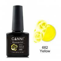 Акварельный гель-лак CANNI 682 желтый 7.3ml, фото 1