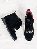 Замшевые ботинки UNIVERSE. (Черный). АРТ-6302-28.3