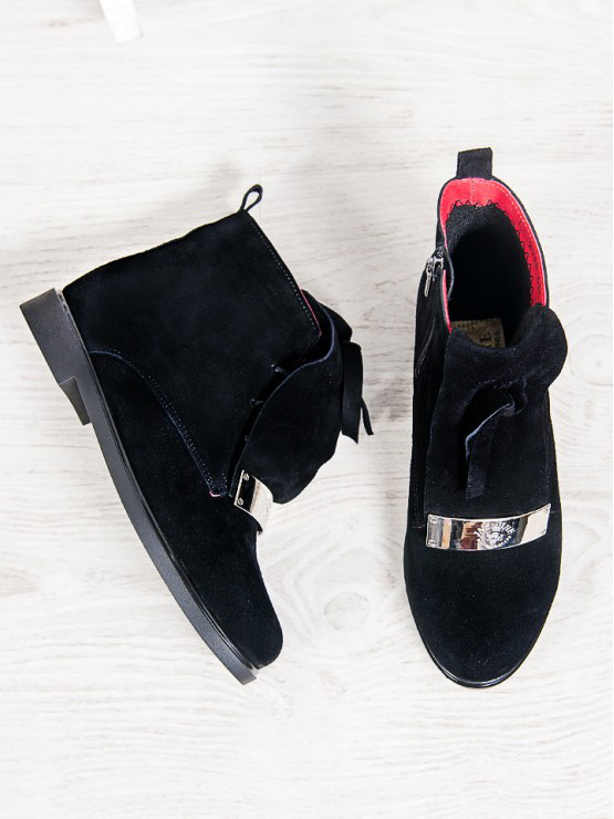 """Замшевые ботинки UNIVERSE. (Черный). АРТ-6302-28.3 - Интернет-магазин """"Odevarius-shop"""" в Одессе"""