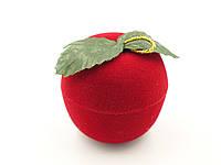 """Футляр бархатный для кольца """"Яблоко"""" красное"""