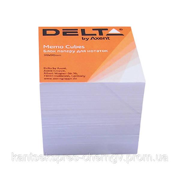 Бумага для заметок Delta D8005, 90х90х80 мм, непроклеенная, белый