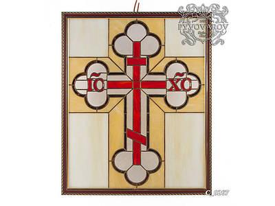 Витражная картина крест