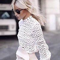 Блузка кружевная белая