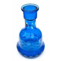 Колба для кальяна синяя (45х14х14 см внутренний d-4,5 см)