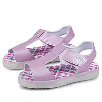 Pink summer step, Босоножки розовые светящиеся LED, размер 25-32