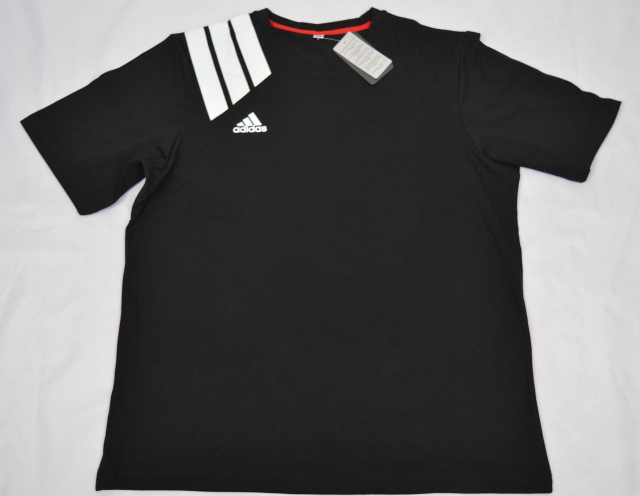 """Мужская футболка """"Батал"""" АBT1802 черный"""