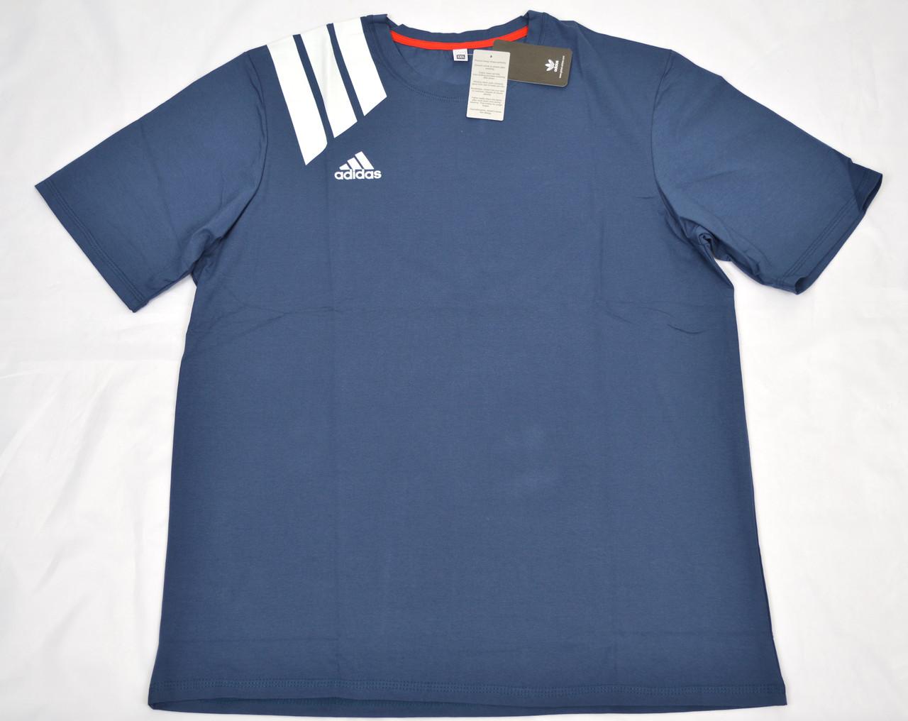 """Мужская футболка """"Батал"""" АBT1802 синий"""
