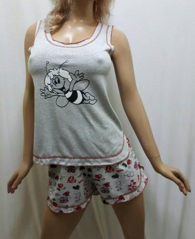 Пижама женская майка с шортами из хлопка, от 42 до 50 р-ра, Харьков