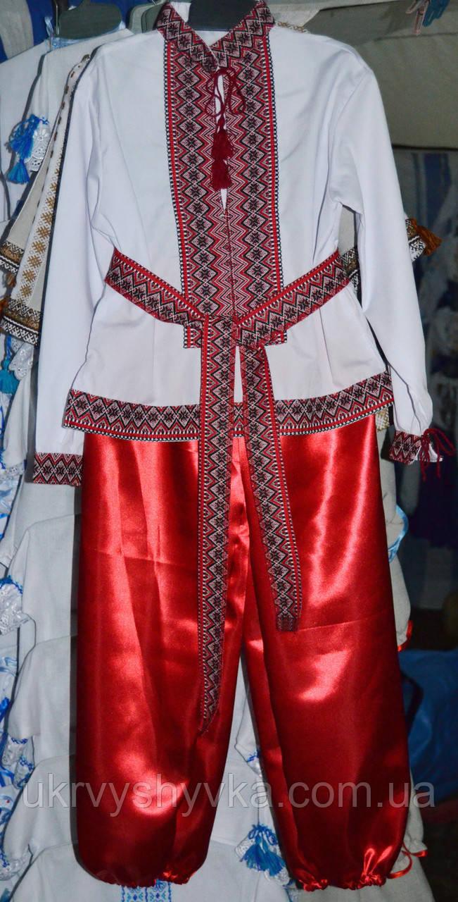 """Вишитий костюм """"Гопак"""" червоний"""