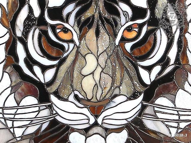 картина витраж Тигр