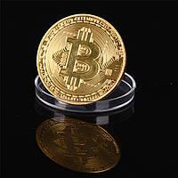 Биткоин Сувенирная Монета .Коллекционная Bitcoin Titan монета в коробочке.