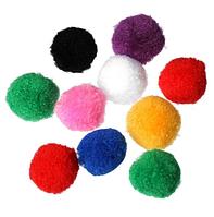 Помпончики, 4 см , 5 шт., цвет микс