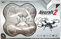 Радиоуправляемый квадрокоптер 2,4 gz Led 4 винта drone SG600 белый