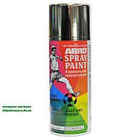 Краска аэрозольная акриловая ABRO 473мл. ХРОМ, фото 1