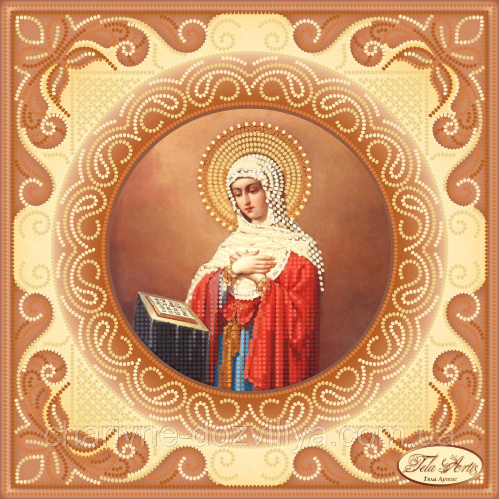 Схема для вышивки бисером икона Богородица