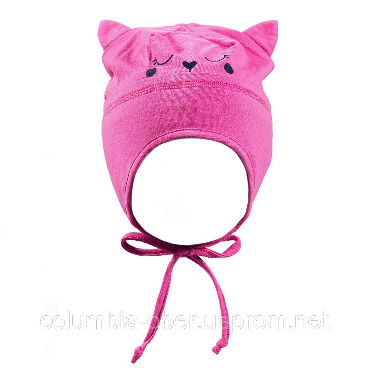 Демисезонная шапка для девочек Peluche S18 TU 08 BF Flamingo. Размеры 47, 49.