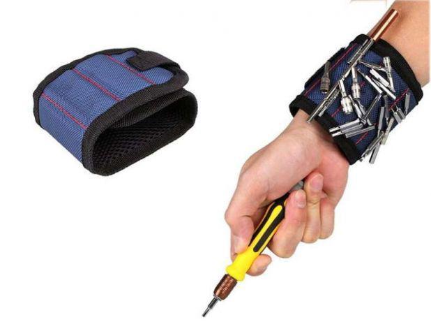 Строительный магнитный браслет, регулируемый, нейлон