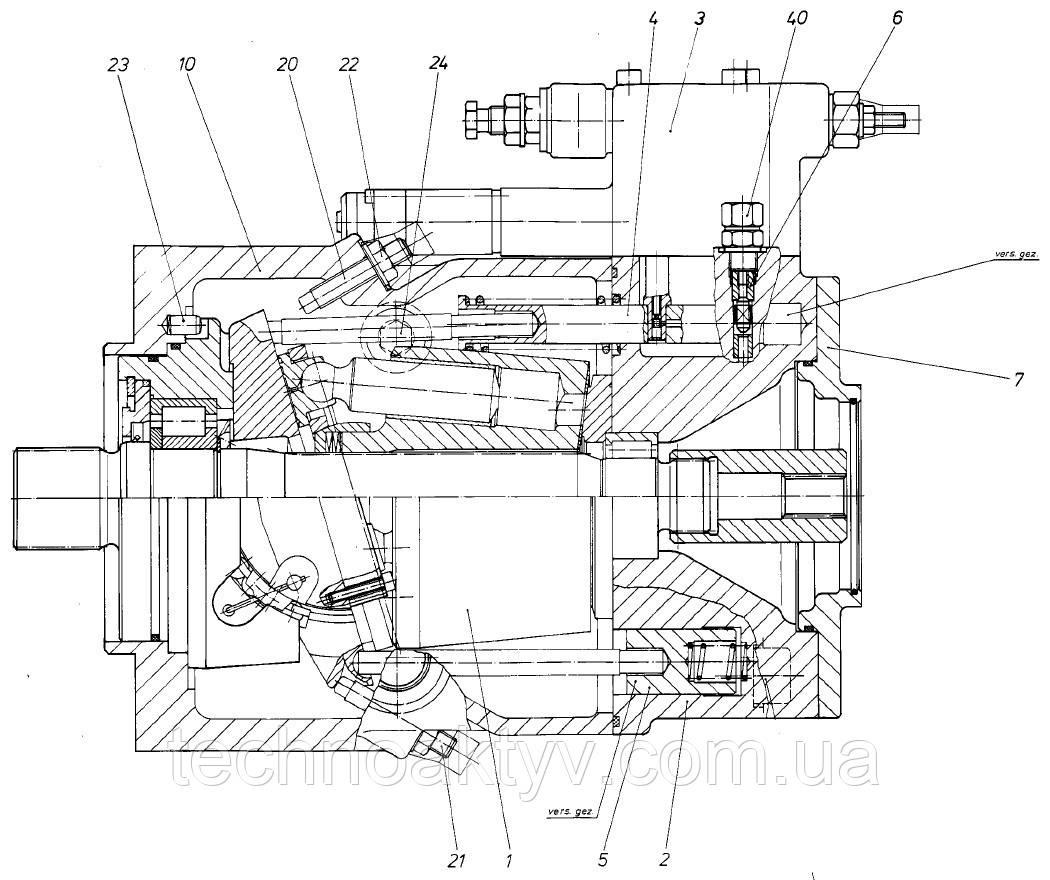 Гидронасос Bosch Rexroth A11VO - A11VO200DRS-10R-NPD12K66 и его комплектующие