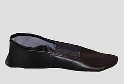 Чешки детские классические черные, кожаные