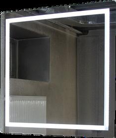 Зеркало с LED подсветкой 533х683 мм d-54зеркало с подсветкой в ванную