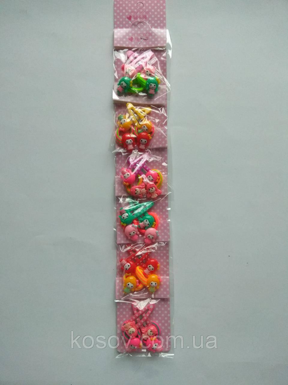 "Заколка ""Тик-так №2"" 12шт + 12шт (разноцветние)"