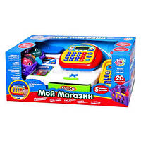 Кассовый аппарат 7019 калькулятор, микрофон, аксессуары, звук (рус), свет, на батарейке