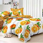 Полуторное постельное белье, Апельсин, сатин 100%хлопок