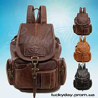 Винтажный рюкзак YINGDAK (темно-коричневый)
