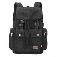 Рюкзак Augur Maibo LA - модный и прочный мужской рюкзак, материал верха канвас и натуральная кожа