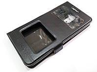 Чехол книжка с окошками momax для Xiaomi Redmi 4 черный