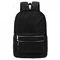 Рюкзак мужской черного цвета с серебряной фурнитурой  DFSY ER
