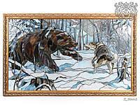 Картины из стекла Медведь и Волк