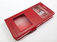 Чехол книжка с окошками momax для Xiaomi Redmi 4 красный